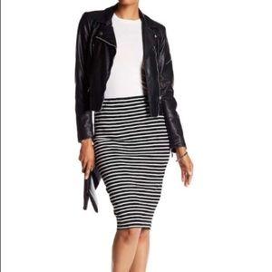 Philosophy Apparel Striped Midi Skirt